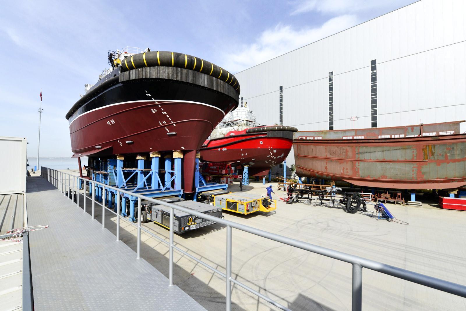 Sanmar Shipyards built Vectra 3000 tug boat ready to launch
