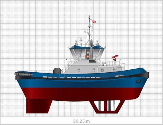 Sanmar Shipyards Vectra 3000 tug boat