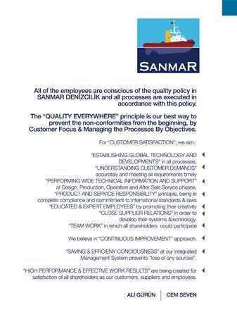 Sanmar - Quality-policy