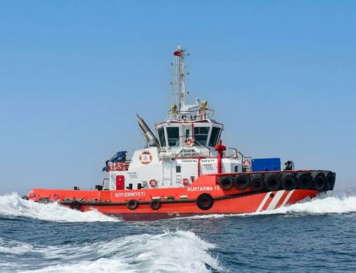 Sanmar delivers the most powerful escort tug of Turkish Directorate General of Coastal Safety